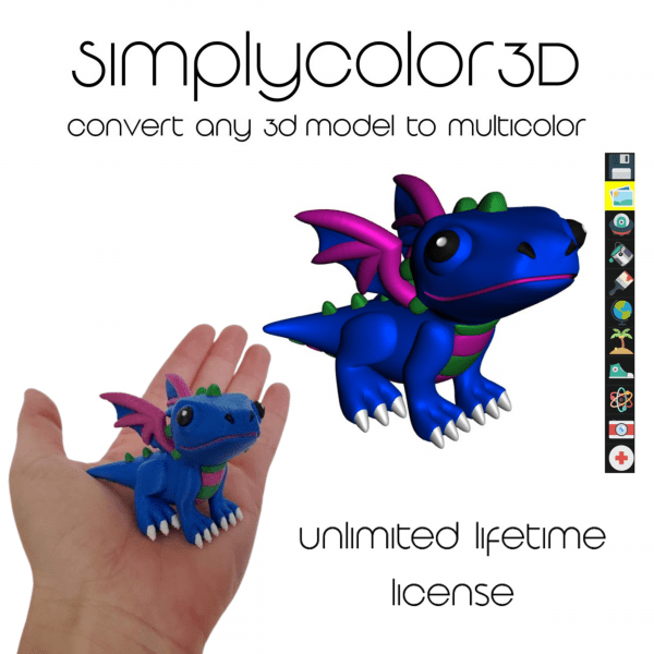 SimplyColor3D: Convert any 3D model to MultiColor - Unlimited Lifetime License *Now Immediate access*