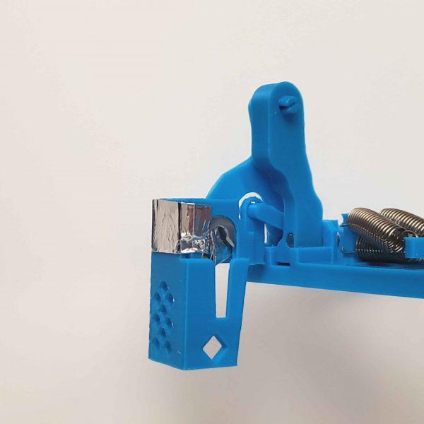 Prusa i3 mk - multicolor 3d printing purge block eliminator - assembled front